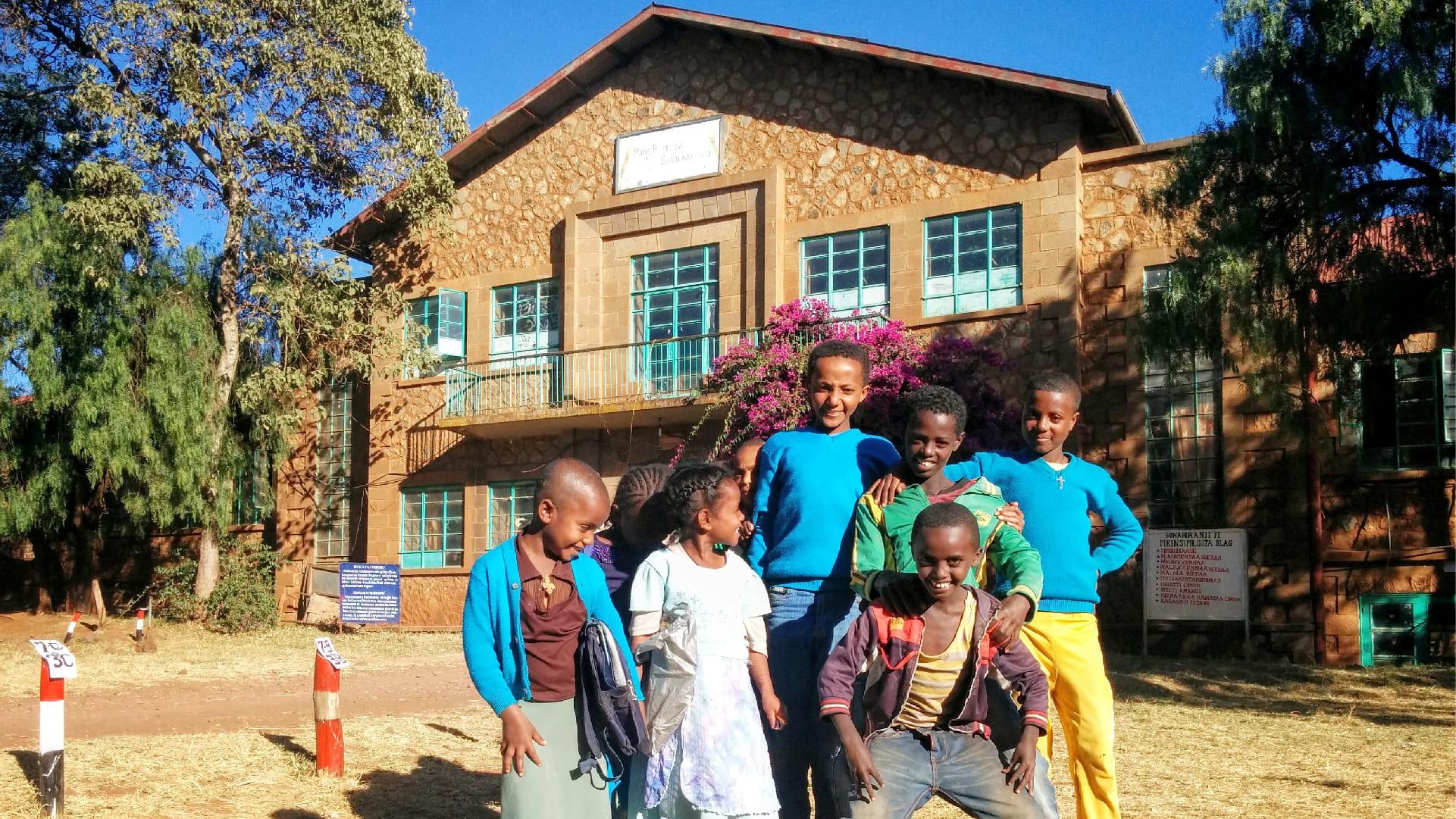 The school kids of Woliso Ethiopia